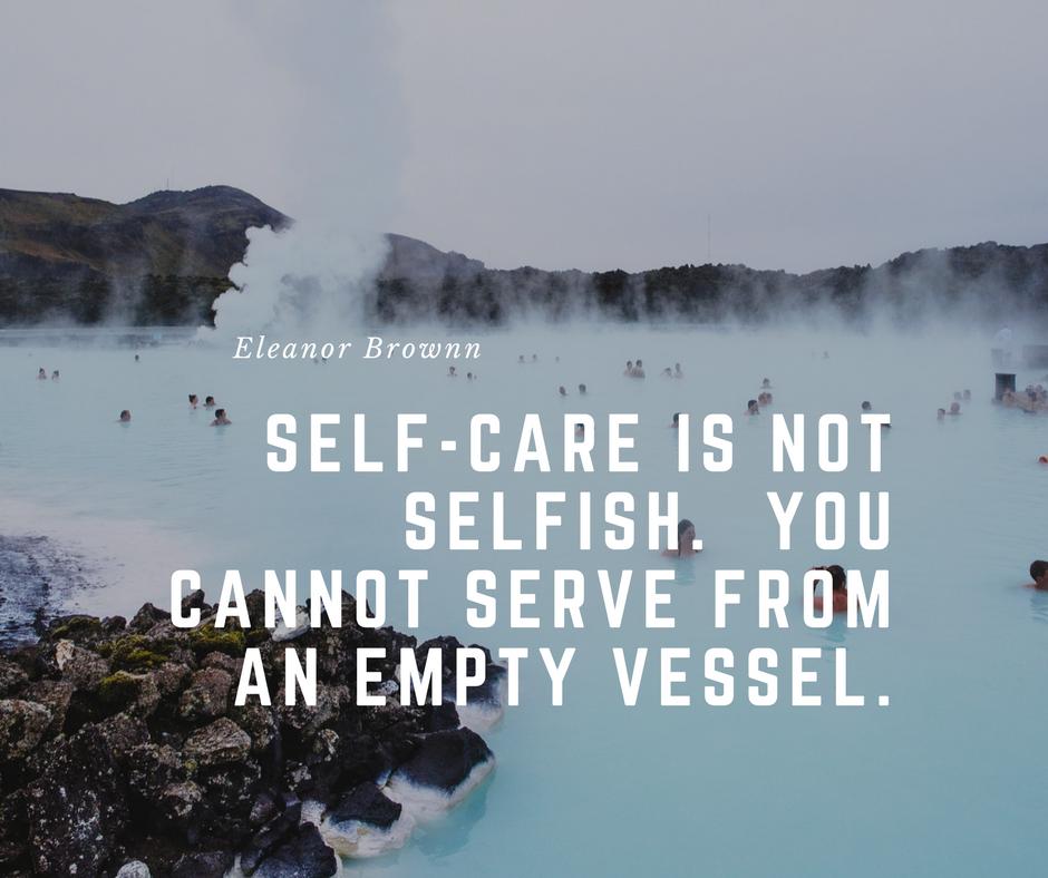 selfcare isnt selfish